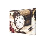 Reloj de bolsillo del vintage lona envuelta para galerias