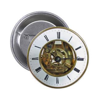 Reloj de bolsillo del vintage pin redondo de 2 pulgadas