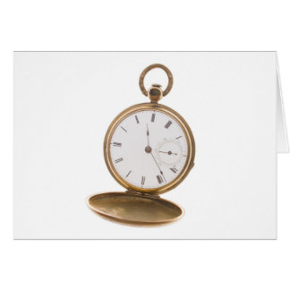 Reloj de bolsillo del vintage tarjeta de felicitación