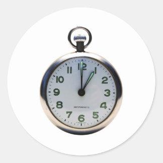 Reloj de bolsillo pegatina redonda