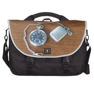 Reloj de bolsillo suizo del vintage bolsas para portatil