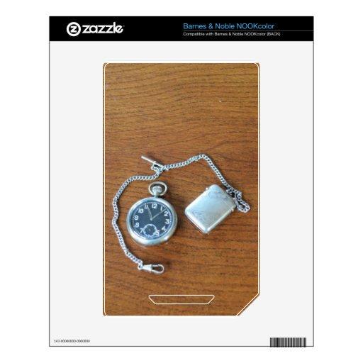Reloj de bolsillo suizo del vintage skin para el NOOK color