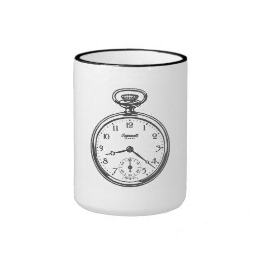 Reloj de bolsillo taza de café