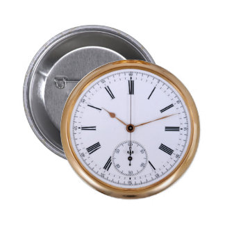 Reloj de bolsillo temprano de la antigüedad del pin redondo de 2 pulgadas