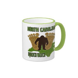 Reloj de Carolina del Norte Squatch Taza De Café