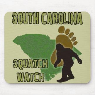 Reloj de Carolina del Sur Squatch Tapete De Ratones