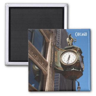 Reloj de Chicago Imán Cuadrado