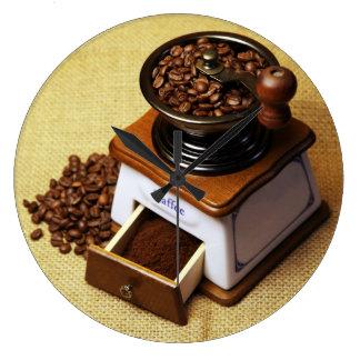 Reloj de cocina molinillo de café