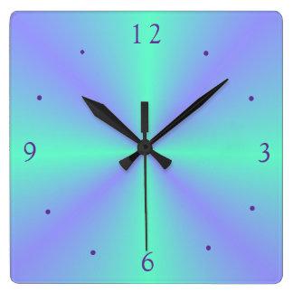 Reloj de color de malva bonito de Green>Wall de la