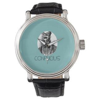 Reloj de Confucio con la banda de cuero