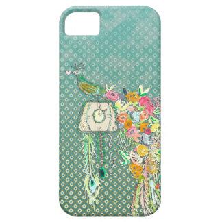 Reloj de cuco del pavo real por Bari J. iPhone 5 Case-Mate Funda