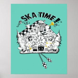 Reloj de cuco del tiempo de Ska Impresiones