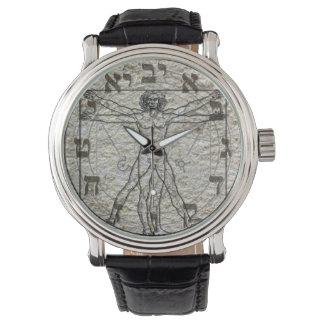 Reloj de da Vinci del hombre de Vitruvian