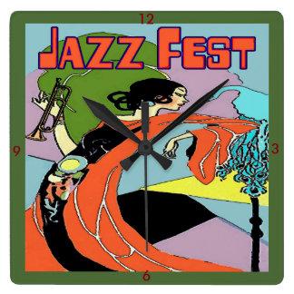 Reloj de Decco del arte del Fest del jazz