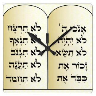 Reloj de diez mandamientos