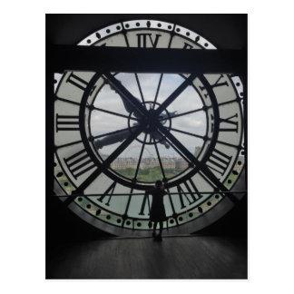 Reloj de D'Orsay del museo de París Postal