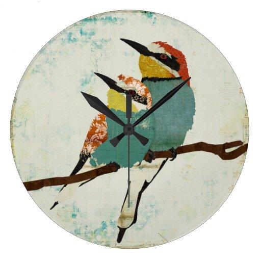 Reloj de dos pequeño pájaros