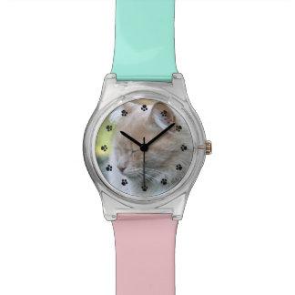 Reloj de encargo colorido de la foto del mascota