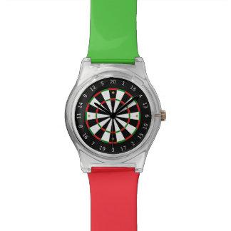 Reloj de encargo colorido del tablero de dardo