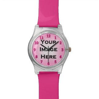 Reloj de encargo con la sombra color de rosa del