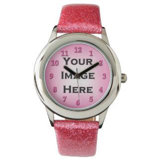 Reloj de encargo con los números color de rosa el