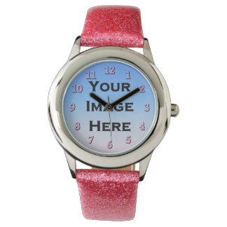 Reloj de encargo con los números rosados el 40%