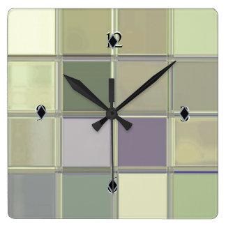 Reloj de encargo de acrílico liso del arte de Digi