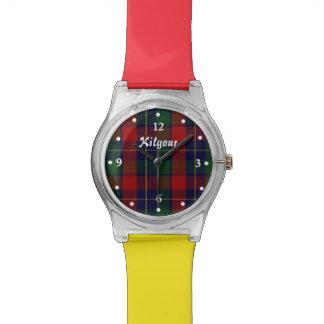 Reloj de encargo de Kilgour del clan rojo y amaril