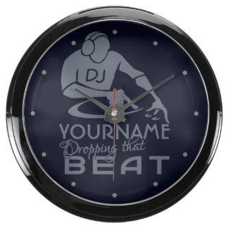 Reloj de encargo de la aguamarina de DJ Relojes Acuario