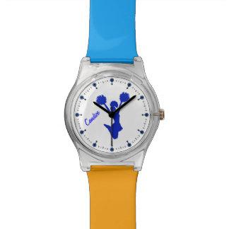 Reloj de encargo de la animadora azul
