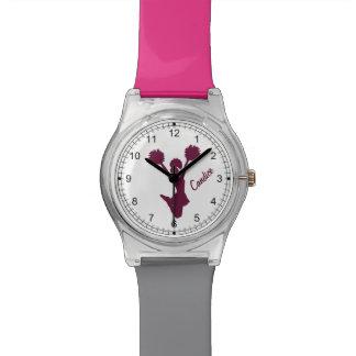 Reloj de encargo de la animadora marrón
