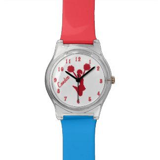 Reloj de encargo de la animadora roja