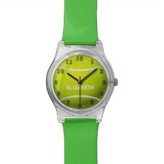 Reloj de encargo de la bola del tenis
