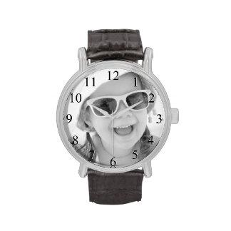 Reloj de encargo de la foto