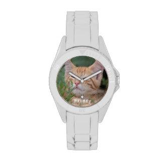 Reloj de encargo de la foto del mascota