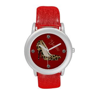 Reloj de encargo del estilete de moda de Jaguar