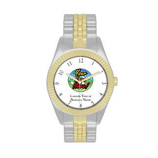 Reloj de encargo del logotipo, ninguna cantidad mí