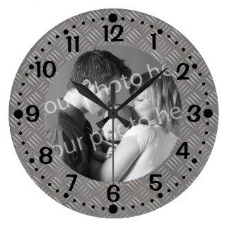 Reloj de encargo grabado en relieve de la foto de