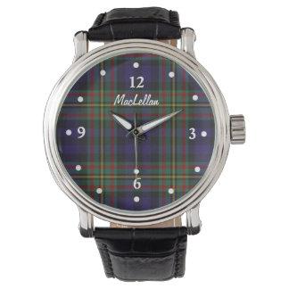 Reloj de encargo hecho frente tela escocesa