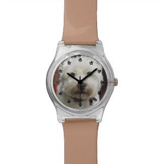 Reloj de encargo lindo de la foto del mascota