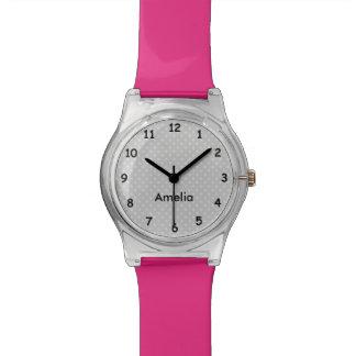 Reloj de encargo moderno de los chicas de los