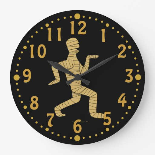 Reloj de encargo w/Mins de Halloween de la momia e