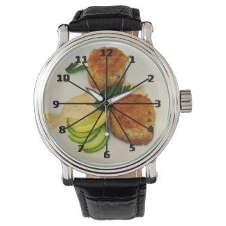 Reloj de Foodie de las tortas de cangrejo