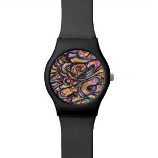 Reloj de fusión del arte abstracto