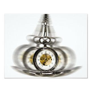 """Reloj de giro de la hipnosis invitación 4.25"""" x 5.5"""""""