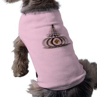 Reloj de giro de la hipnosis playera sin mangas para perro