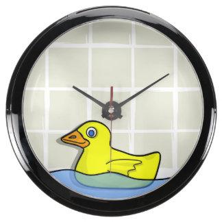 Reloj de goma de la aguamarina de Duckie Relojes Pecera