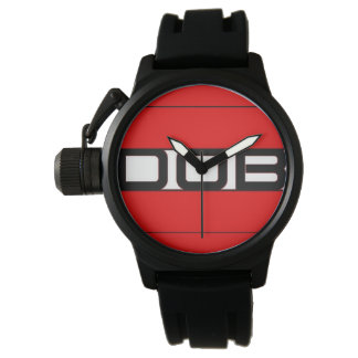 Reloj de goma negro de DOB Clothing Company