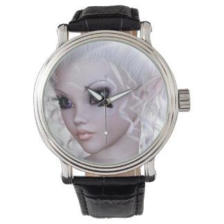 Reloj de hadas con la cara de un faerie