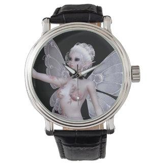 Reloj de hadas con un faerie que está sin ropa